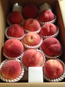 中沢さんの桃